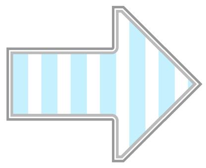 Arrow stripe light blue