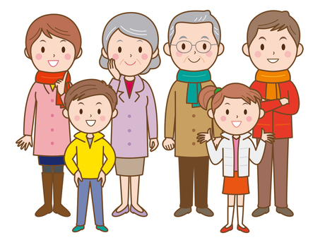 Family, 3 generations-winter clothes_2