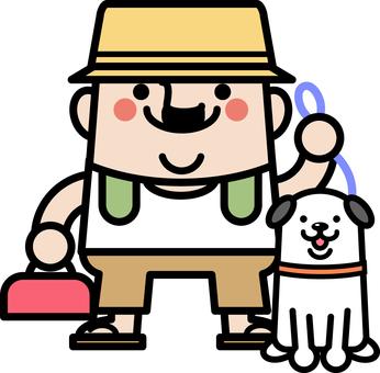 叔叔仙女走路的一條狗