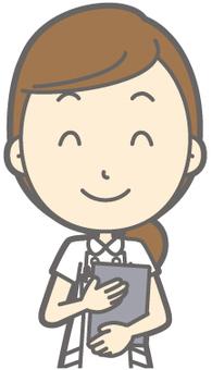 Female nurse - smile file - bust