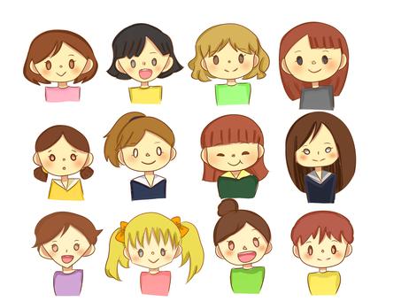Various girls