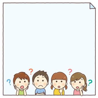 아이 4 인조 의문 문자 공간