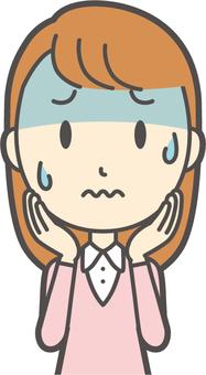 핑크 소녀 긴 머리 -181- 가슴