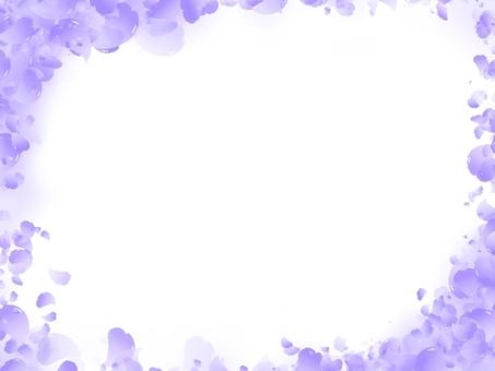 桜フレーム 紫