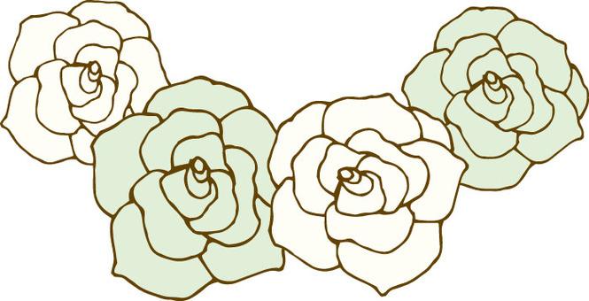 꽃 (장미 흰색 화환)