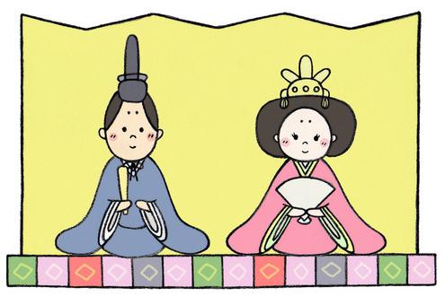 Hinamasa (Odina and folding screen)