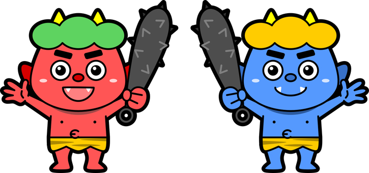 Red demon and blue gob