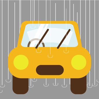 Car (Driving in rain · Wiper)