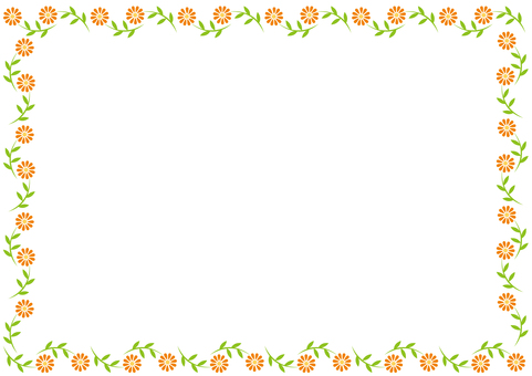 Frame - Pretty flower - Orange