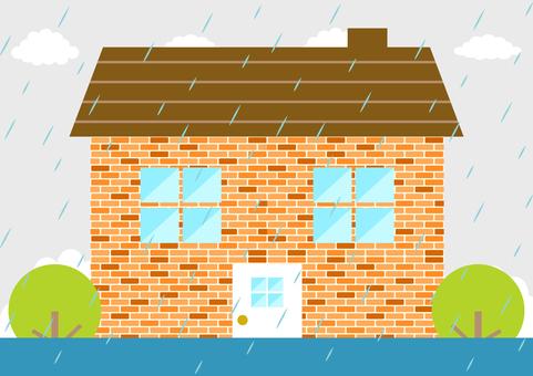 House rain flood
