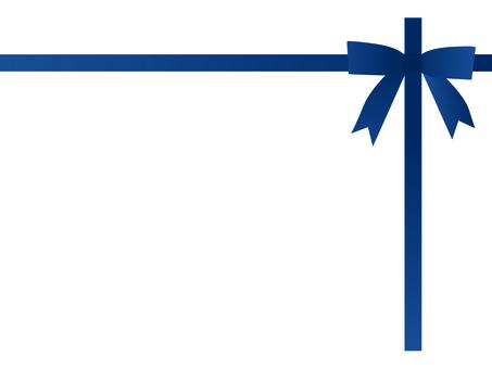 Blue string ribbon