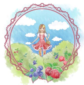一個來花園的女孩