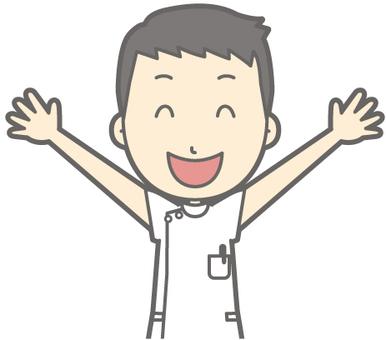 Male nurse - Banzai - bust