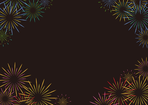 Fireworks frame (black)