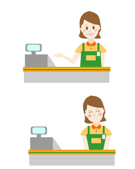Cash register, job offer, staff, part