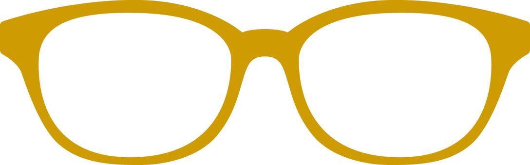 Glasses frame _ ocher color