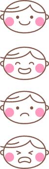 Boys' facial expressions
