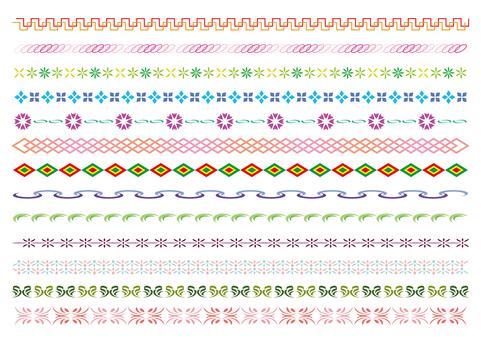 24-line, decorative line set 5 color B