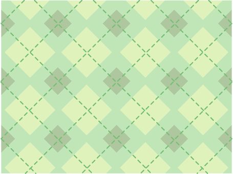 Dotted line check - green