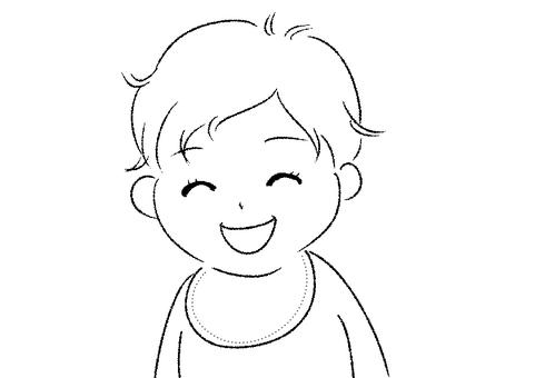Smile baby illustration