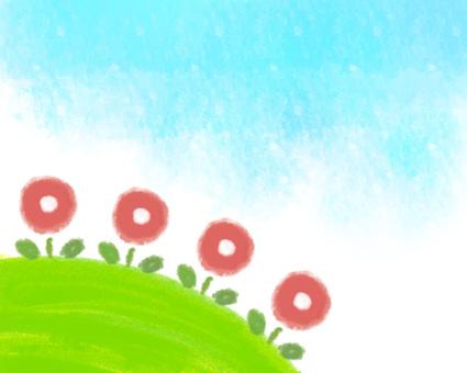 프레임 - 꽃과 초원과 하늘 -