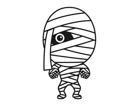A bandage man