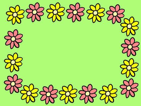 Hand drawn flower frame