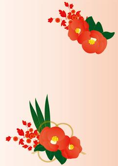 Frame postcard (camellia)