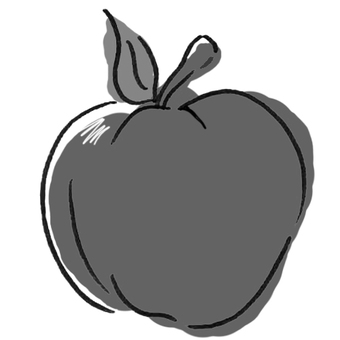 Apple (black and white)