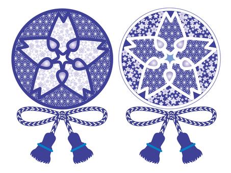 Crestain-like pattern _ blue
