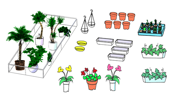 Gardening equipment potted plant