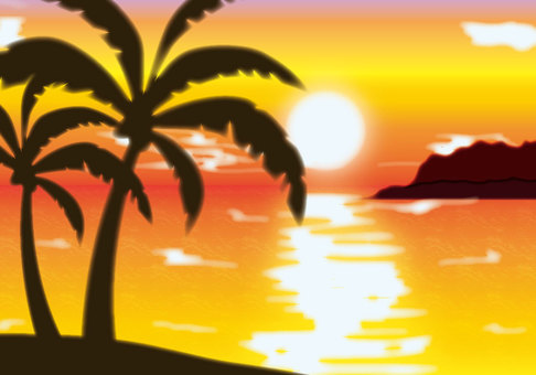 Tropical sunset background 1