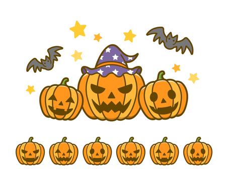 Halloween_ Pumpkin and Bat 01