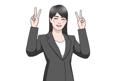 Business suit woman piece hands