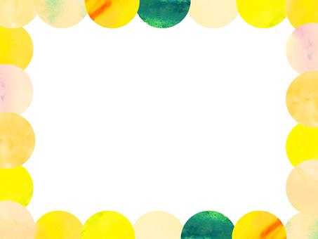 [水彩]大理石花紋可愛畫框