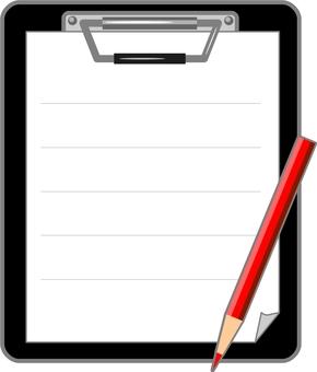 바인더와 연필