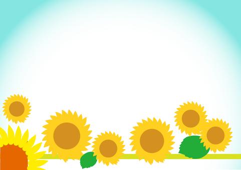 Sunflower frame 3 A4