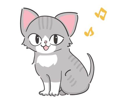 Cheerful kitten