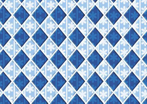 Flower tile (blue)