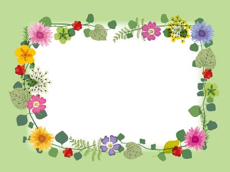 봄의 나뭇잎 _ 프레임 _ 그린