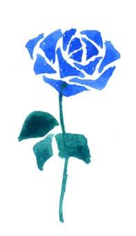 Розовые цветы Голубые