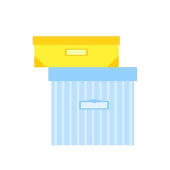 Box (Yellow Blue)