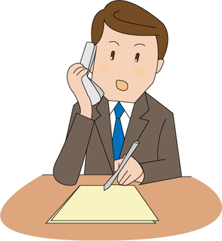 A businessman who makes a phone call