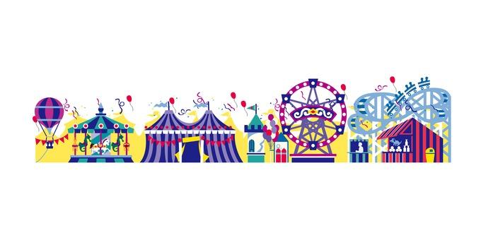 An amusement park illustration