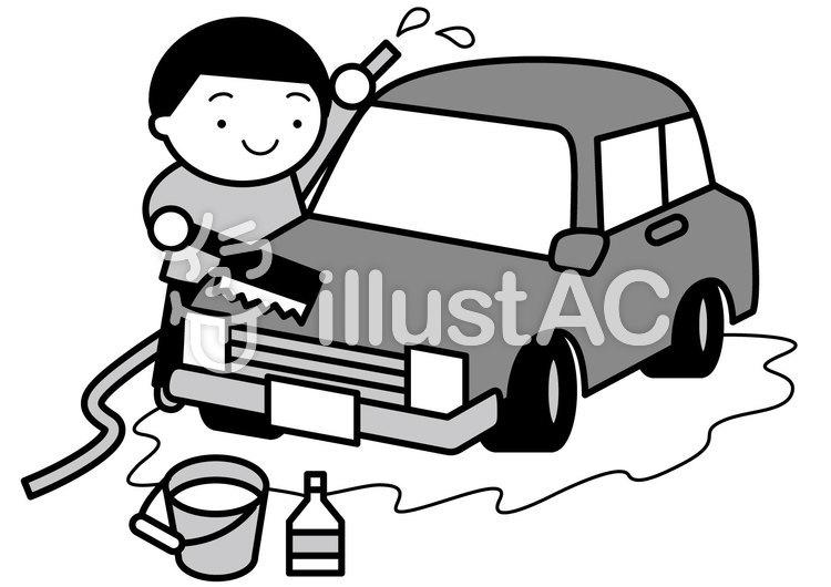 洗車2cのイラスト