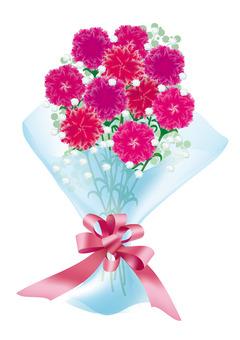 [어머니의 날 일러스트] 카네이션의 꽃다발