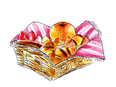 The basket of bread 2