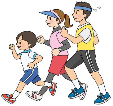 Jogging with family