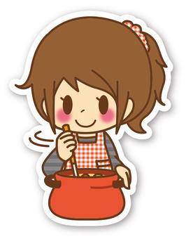 【密封】女性*烹飪_鍋