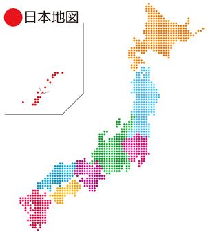●の日本地図_地方分け_2